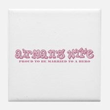 Cute Married to an american Tile Coaster