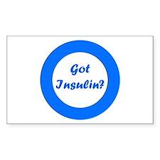 Got Insulin Rectangle Sticker