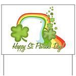 Happy St Patricks Day Rainbow Yard Sign