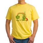 Happy St Patricks Day Rainbow Yellow T-Shirt