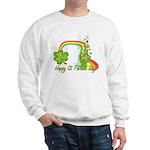 Happy St Patricks Day Rainbow Sweatshirt