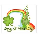 Happy St Patricks Day Rainbow Small Poster