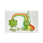 Happy St Patricks Day Rainbow Rectangle Magnet (10
