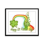 Happy St Patricks Day Rainbow Framed Panel Print