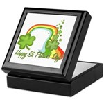 Happy St Patricks Day Rainbow Keepsake Box