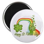 "Happy St Patricks Day Rainbow 2.25"" Magnet (100 pa"