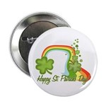 "Happy St Patricks Day Rainbow 2.25"" Button (100 pa"