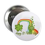 "Happy St Patricks Day Rainbow 2.25"" Button (10 pac"
