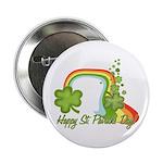 "Happy St Patricks Day Rainbow 2.25"" Button"