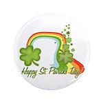 "Happy St Patricks Day Rainbow 3.5"" Button (100 pac"