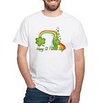 Happy St Patricks Day Rainbow White T-Shirt