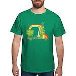 Happy St Patricks Day Rainbow Dark T-Shirt
