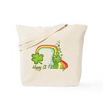 Happy St Patricks Day Rainbow Tote Bag