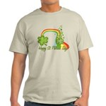 Happy St Patricks Day Rainbow Light T-Shirt