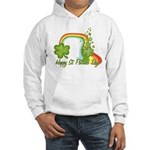 Happy St Patricks Day Rainbow Hooded Sweatshirt
