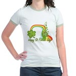 Happy St Patricks Day Rainbow Jr. Ringer T-Shirt