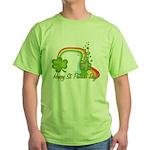 Happy St Patricks Day Rainbow Green T-Shirt