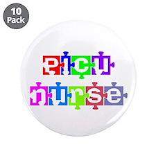 "PICU Nurse 3.5"" Button (10 pack)"