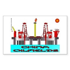 China Oilfields Rectangle Decal