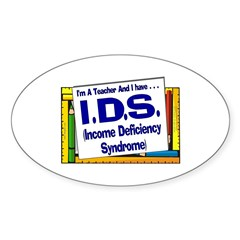 IDS! (Blu) Oval Decal