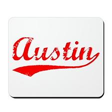 Vintage Austin (Red) Mousepad