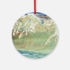 NEPTUNE'S HORSES II Ornament (Round)