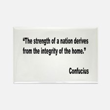 Confucius Home Integrity Quote Rectangle Magnet