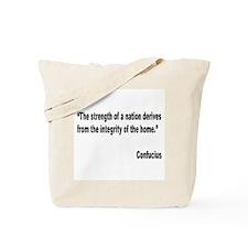 Confucius Home Integrity Quote Tote Bag