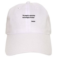 Confucius Home Integrity Quote Baseball Cap