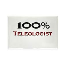 100 Percent Teleologist Rectangle Magnet