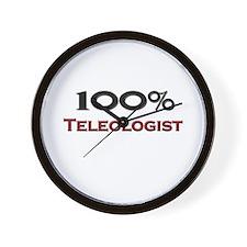 100 Percent Teleologist Wall Clock