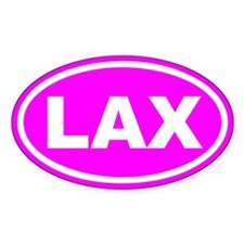 LAX Lacrosse Pink Euro Oval Decal