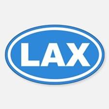 LAX Lacrosse Blue Euro Oval Decal
