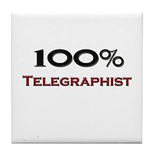 100 Percent Telegraphist Tile Coaster