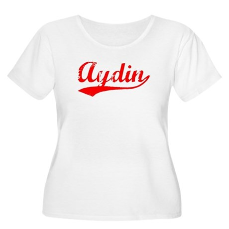 Vintage Aydin (Red) Women's Plus Size Scoop Neck T