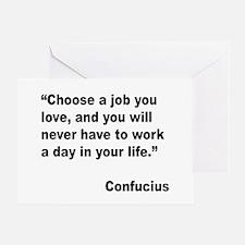 Confucius Job Love Quote Greeting Card