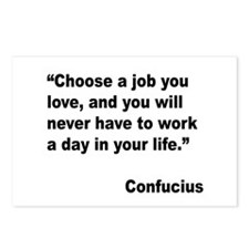 Confucius Job Love Quote Postcards (Package of 8)