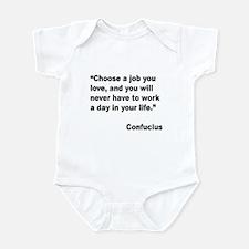 Confucius Job Love Quote Infant Bodysuit