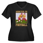 Addicted To Football Women's Plus Size V-Neck Dark