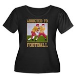 Addicted To Football Women's Plus Size Scoop Neck