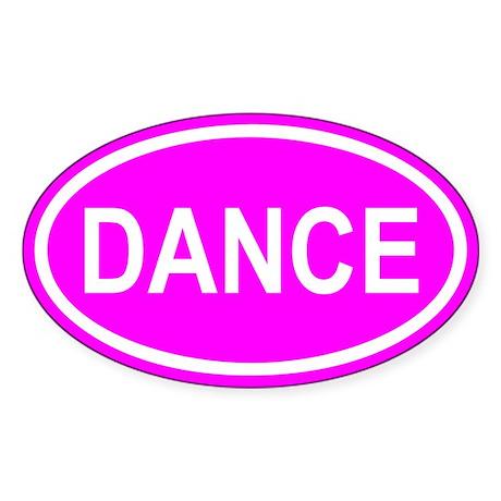 DANCE Pink Euro Oval Sticker