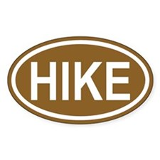 HIKE Brown Euro Oval Decal