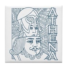 ATHENA and ZEUS Tile Coaster