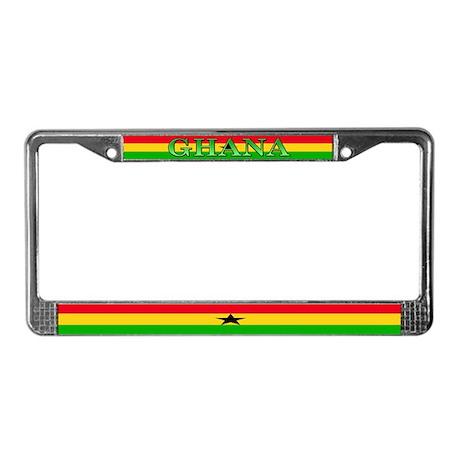 Ghana Ghanaian Flag License Plate Frame