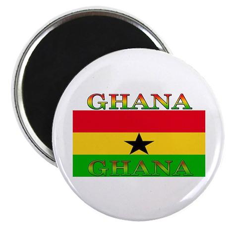"""Ghana Ghanaian Flag 2.25"""" Magnet (100 pack)"""