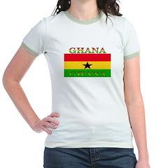 Ghana Ghanaian Flag Jr. Ringer T-Shirt