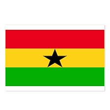 Ghana Blank Flag Postcards (Package of 8)