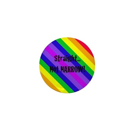 """""""Straight Not Narrow"""" Mini Button (10 pack)"""