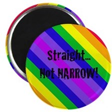 """Straight Not Narrow"" Magnet"