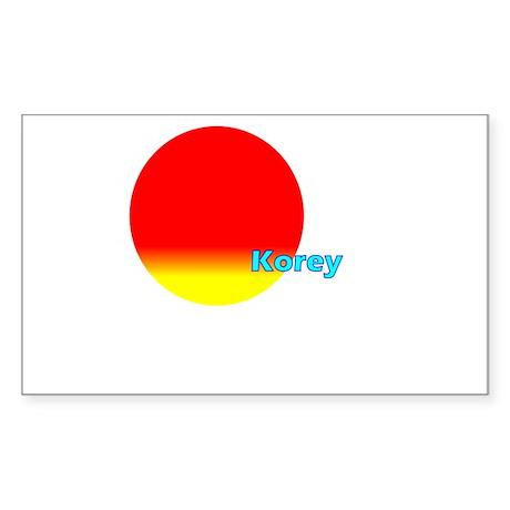 Korey Rectangle Sticker